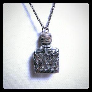Vtg LVP France Perfume Bottle Pendant Necklace